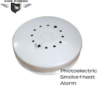 433MHz Ceiling, wall mounting Standalone Wireless Photoelectric Heat and Smoke alarm fire Detector with 85dB alarm signal(DT-02)