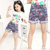Children's clothing 2014 female child fashion all-match denim casual big boy children shorts