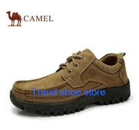 Authentic 2014 new arrival camel shoes mens cowhide genuine leather, male business brand Flat shoes, breathable and comfortable.