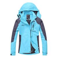 Free shipping Woen's Waterproof Hiking Hoodies Windbreaker Ski Jackets Camping Wear Summit Series Hoody Coat lady Ski Outerwear
