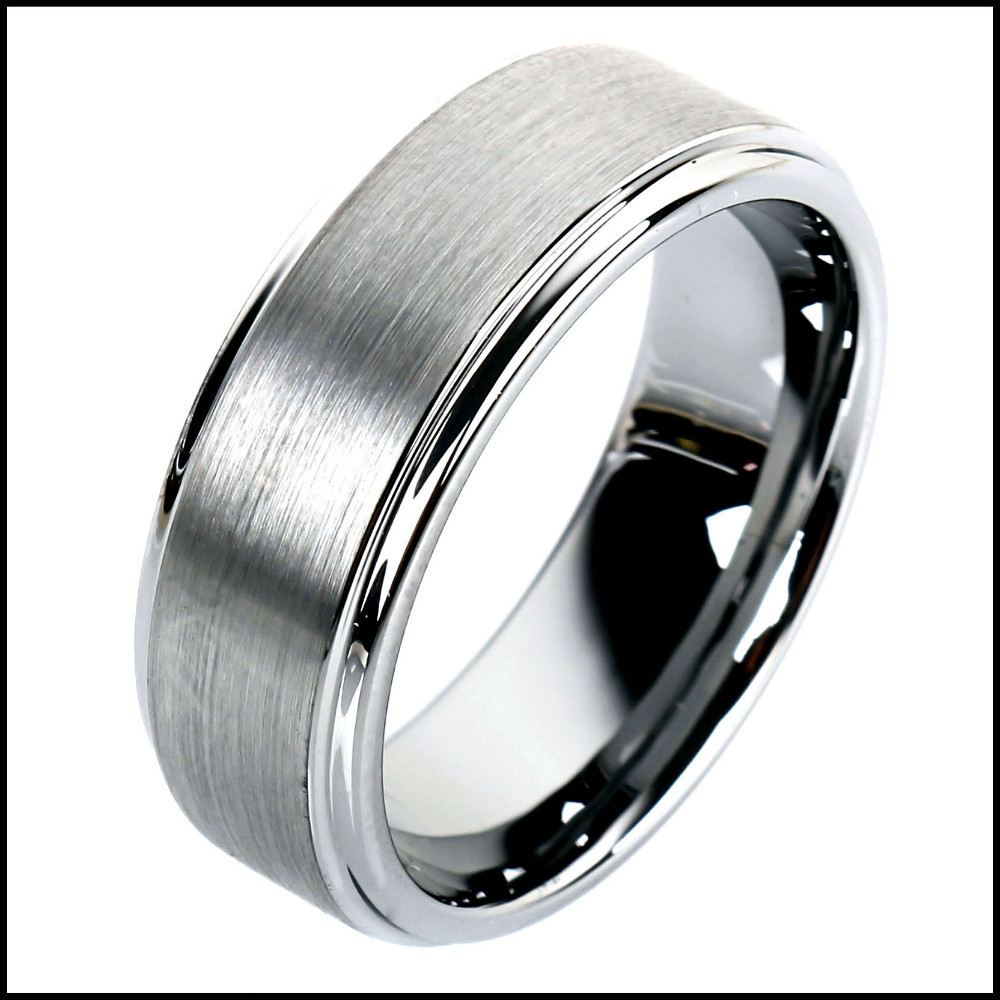 8mm Unisex Tungsten Carbide Ring Dull Polished Plain Mens Jewelry Gift Comfort Fit Wedding Bands