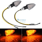 Free Shipping 2 x New 12 LED Universal Motorcycle Turn Signal Indicators Lights SV000753 B002(China (Mainland))