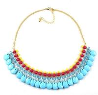 New Multi-chain  Luxury Fashion New Jewelry  Exquisite Punk Rhinestone Necklace High Quality Costume Jewellery