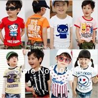 2014 new children's T-shirt ,high-quality children's clothes, nova kids boys girls short sleeve printing  cotton cartoon T-shirt