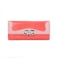 Hot sale:2014 women's Wallet long design soft surface zipper coin pocket Pu