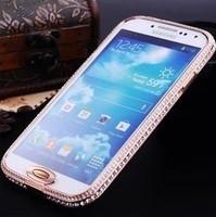 For samsung   i9500 metal diamond s4 rhinestone phone case with diamond i9508 i959 protective case