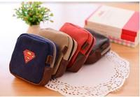 Free Shipping!The Avengers Hero Super Man Batman Captain Ameria canvas Small bag coin bag /coin purses/coin wallet /key bag