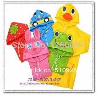 Free Shipping Rain Coat children Raincoat Rainwear/Rainsuit,Kids Waterproof Animal Raincoat Children's cartoon poncho 1pc(China (Mainland))
