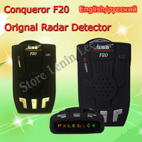 100% orginal Conqueror Car radar detector F20 With X K KA NK L VG-2 Russian or English voice Free Shipping