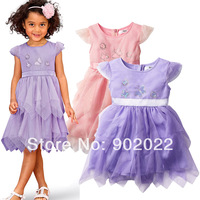 Free Shipping Children Clothing Girl's 2 color lace evening dress