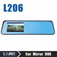 2014 New Car DVR mirror Camera 4.3 Inch 120 degree Wide Angle HD1080P recorder  car cam L206