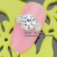 sh331 New 3D nail art decoration alloy nail rhinestone free shipping wholesale 30pcs glitter tip nail supplies Zircon Diamond