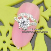 sh329 New 3D nail art decoration alloy nail rhinestone free shipping wholesale 30pcs glitter tip nail supplies Zircon Diamond