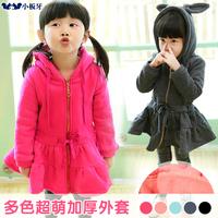 Small die 2014 spring children's clothing thickening fleece baby female child sweatshirt fleece child outerwear t0145