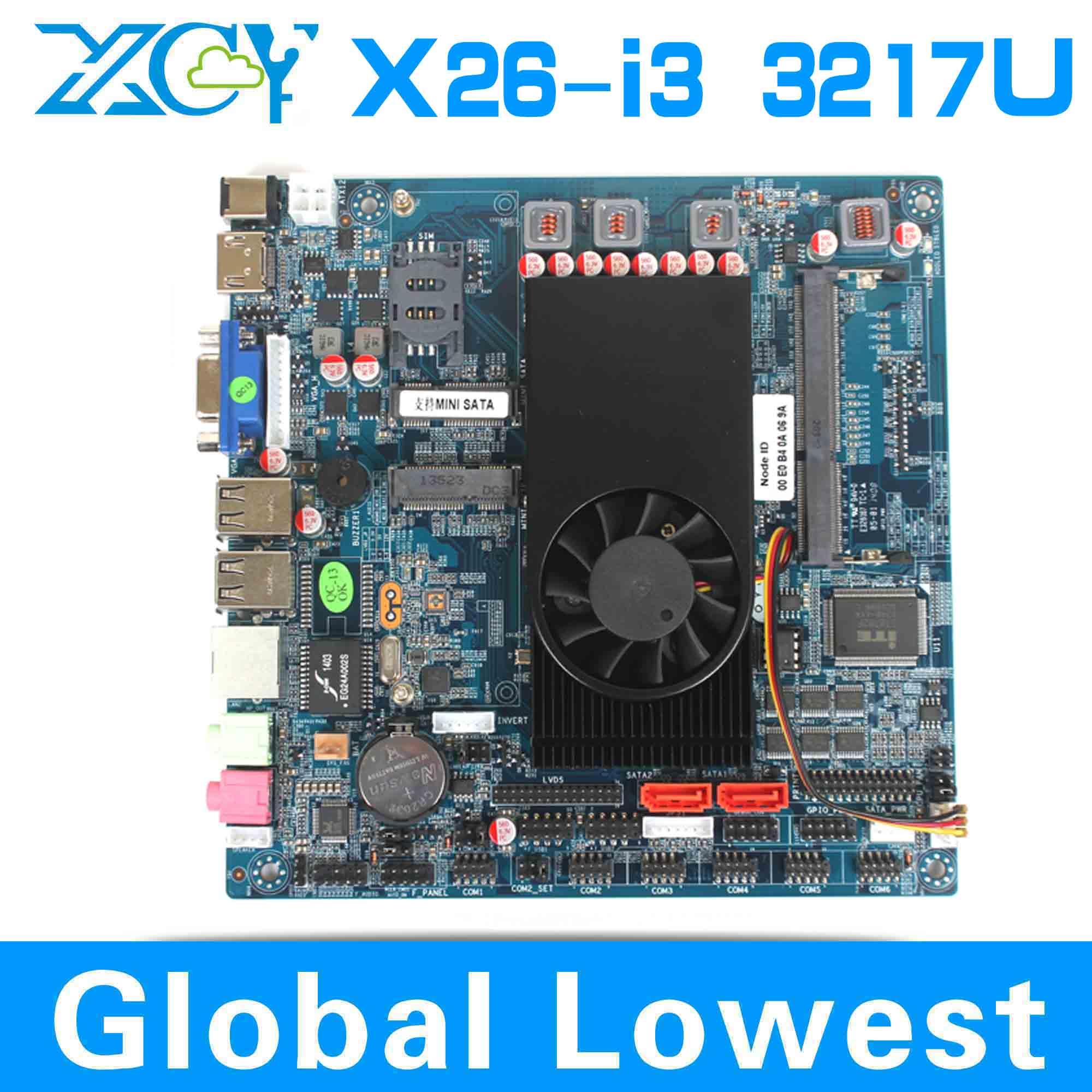Intel I3 3217u core dual mini motherboard, XCY X26-I3 Mini-ITX main board, Micro main board(China (Mainland))