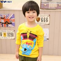 2014 spring autumn children's clothing cartoon child baby male child long-sleeve T-shirt 6775 basic shirt