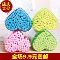 E9074 sanitary napkin bag multicolour plastic tube cotton swab cotton swab sliver box cotton swab 500piece/lot