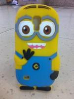 Small  for SAMSUNG   s4mini i9190 3d cartoon silica gel sets milk phone case