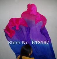 Discount Belly dance accessorie 10pcs=5set 1.8m 3color belly dance silk fan veil WHITE 1.8M SILK FAN VEILS