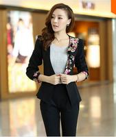 hot! 2014 the autumn ruffle collar Slim short jacket dovetail design  women coat  regular Women's  Blazers