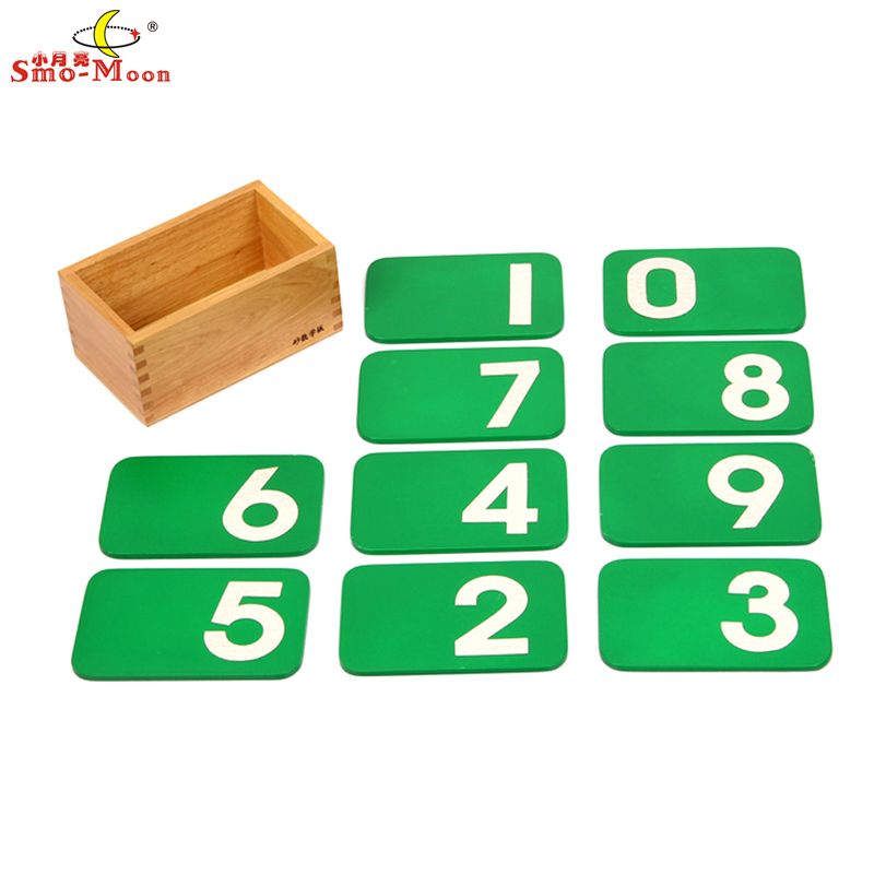 Montessori Math Wooden Teaching Aid Early Development Educational Toys For Baby Sandpaper Numbers With Box For Children(China (Mainland))
