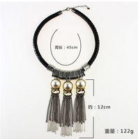 costume Jewellery Natural  Tassel Necklace 2014