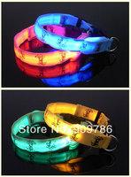 Good price 45pcs/lot DHL/FEDEX free shipping new arrival fashion cartoon flashing Dog collar LED cute pet collar