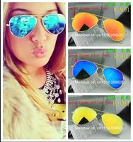 Free shipping  Men's Women's Designer Aviator Sunglasses RB Gold Frame green Iridium Lens 58mm 3025 With Box Case all