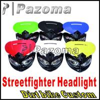 PAZOMA Motorcycle Klx kx drz rmz wr wrf crf xr cr exc sx xcf 250 Dirt bike StreetFighter headlight