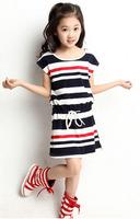 Summer 2014 new female Tong Haijun wind striped skirt girls dress sleeveless striped dress 1404 sfm 1279363923 c
