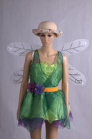 Forest Green Goblin Halloween costumes Flower Fairy Princess queen with cross dressing costume cosplay