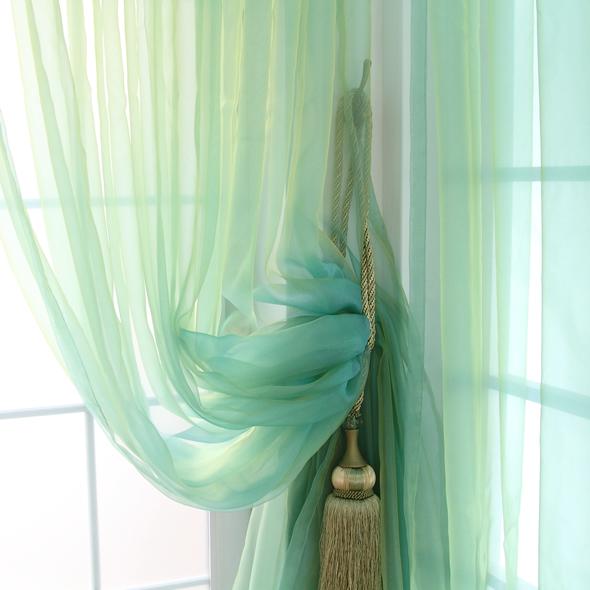 Rustico solido colore rosa tenda verde finestra di screening finitura del prodotto tulle perle di vetro tende di lusso soggiorno 300cm*270cm