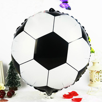New arrivel 10pcs/lots Football  aluminium foil balloons for children birthdfay party helium balloon 18inch ballon