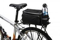 Black Multi-functional Bicycle Rear Seat Trunk Bag Shoulder Handbag Bag Pannier,Free Shipping+Drop Shipping