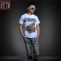 rock metal 3d t shirt mens tee shirt cotton short sleeve rond neck casual mens white t shirts fashion 2014 camisetas masculinas
