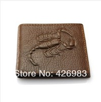 2014 Free shipping hot sale men wallet Genuine leather purse wallets for men,1pce wholesale,quality guarantee.028