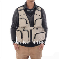 Male and female quick-drying breathable mesh summer recreational fishing clothes bags outdoor photography vest