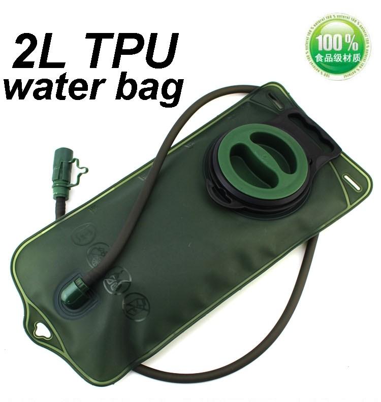 Hot Sale 2L TPU Bicycle Mouth Sports Water Bag Bladder Hydration Camping Hiking Climbing Military Green Free Shipping J3176(China (Mainland))