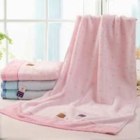 Towel 100% bear cartoon cotton bath towel soft child towel 3366wh