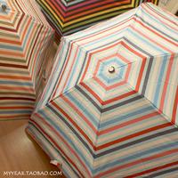 free shipping 2014 new arrival colorful strip Umbrella handbag umbrella anti uv sun protection mini umbrella