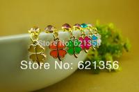 2014Fashion Jewelry,Four Leaf Clover Dust Plug,Mobile Phone Accessories,Crystal Plug,20pcs/lot,Free Shipping,SL005