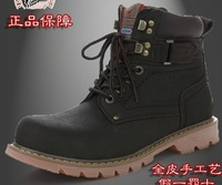 Big Size Shoe 35-45 Guaranteed 100%Genuine Leather Men's Boots Martin Boots Casual Shoes High Help In Single Cylinder Boots