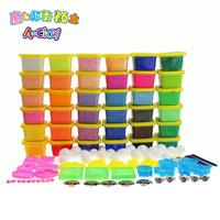 32 color light clay 3d color plasticine clay + mud snow suit 4 color / 720g