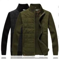 New 2014 Winter Men Long Sleeve Casual Cotton Wool Sweater