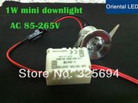 20pcs/Lot 1W Mini LED Star light, led cabinet light, mini led downlight 85-265v CE ROHS ceiling lamp free shipping
