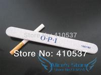 50pcs Professional Zebra Nail Files Buffer Buffing Slim Crescent Grit Sandpaper 100/180 Double side Free Shipping
