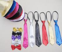 FREE SHIPPING Adult child paragraph paillette hat tie bow tie gloves set hip-hop dance magic