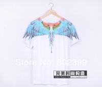 High quality 2014 marcelo burlon feather wings lovers design T-shirt short-sleeve tee