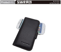 Luxury Genuine Leather Cover Case For Samsung Galaxy SIII i939D Leather Case,i929 Genuine Leather Phone Cover Case, 3 Color,