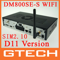 NEW D11 DM800 hd se wifi Satellite Receiver 300mbps WLAN Inside SIM2.10 BCM4505 400Mhz Tuner DM800se Wifi Free Shipping